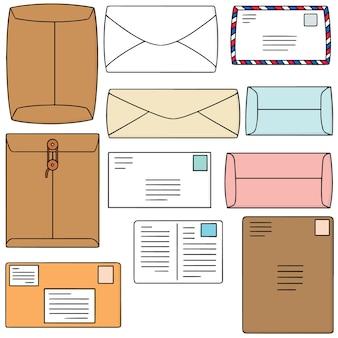 Conjunto de vetores de envelope