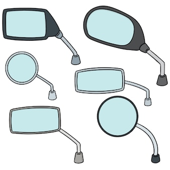 Conjunto de vetores de espelho retrovisor