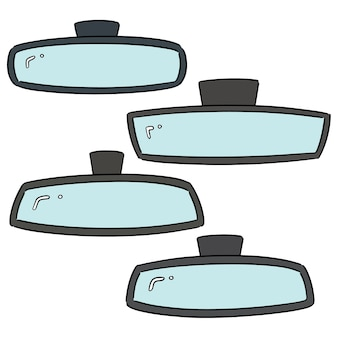 Conjunto de vetores de espelhos retrovisores