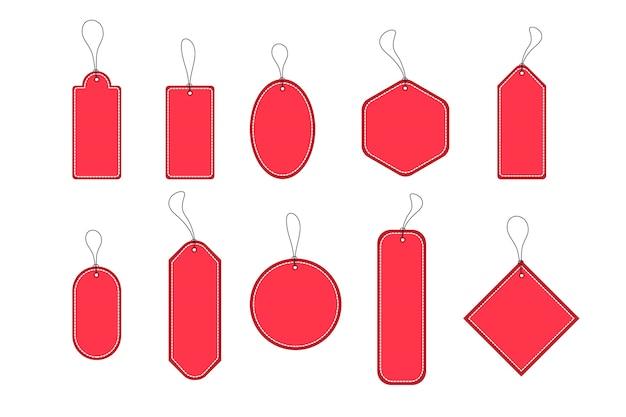 Conjunto de vetores de etiquetas de compras de modelo de etiquetas.