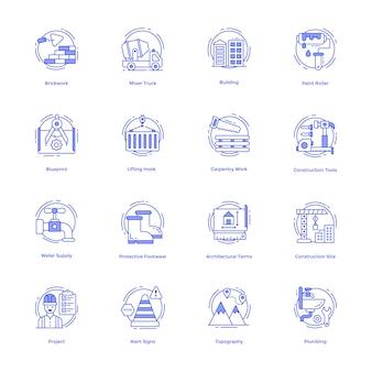 Conjunto de vetores de ferramentas de construção
