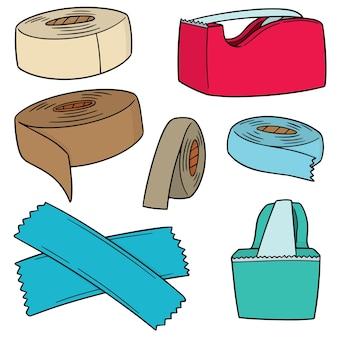 Conjunto de vetores de fita adesiva