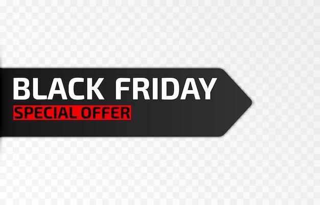 Conjunto de vetores de fitas promocionais para black friday banner de venda black friday advertising