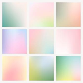 Conjunto de vetores de fundo gradiente de linda primavera