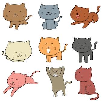 Conjunto de vetores de gatos