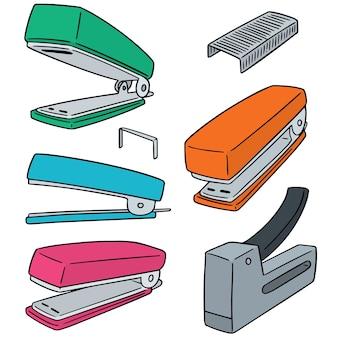 Conjunto de vetores de grampeador