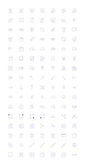 Conjunto de vetores de ícone de computador
