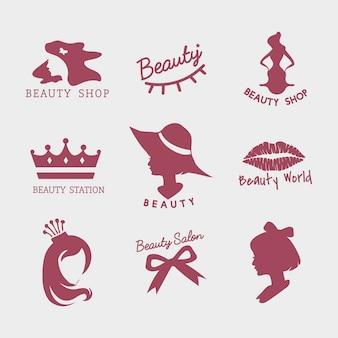 Conjunto de vetores de ícone de salão de beleza