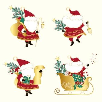 Conjunto de vetores de ilustrações de natal