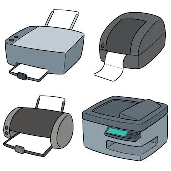 Conjunto de vetores de impressora