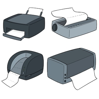 Conjunto de vetores de impressoras
