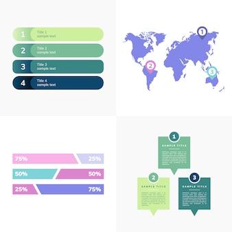 Conjunto de vetores de infografia de negócios