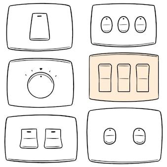 Conjunto de vetores de interruptor elétrico