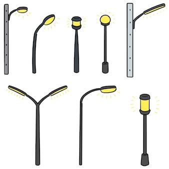 Conjunto de vetores de lâmpada ao ar livre
