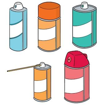 Conjunto de vetores de lata de spray