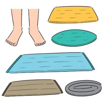 Conjunto de vetores de limpeza do pé
