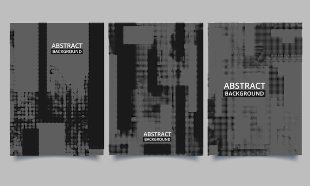 Conjunto de vetores de livro modelo de panfleto com estilo grunge