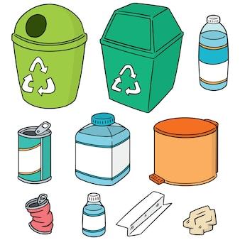 Conjunto de vetores de lixo de reciclagem