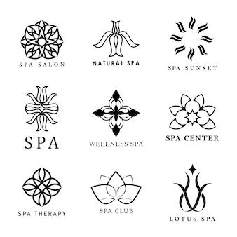 Conjunto de vetores de logotipo de spa