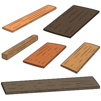 Conjunto de vetores de madeira compensada