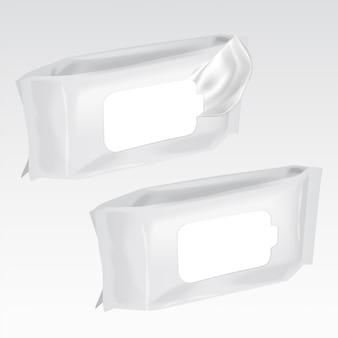 Conjunto de vetores de maquete do fluxo de limpeza molhada, pacote com sombras transparentes realistas