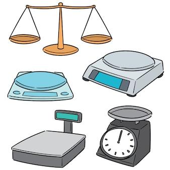Conjunto de vetores de máquina de pesagem