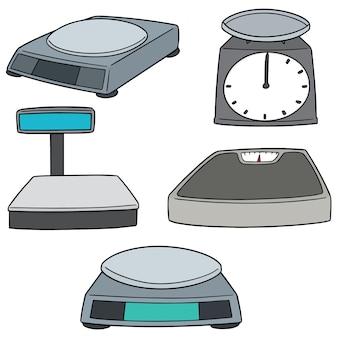Conjunto de vetores de máquinas de pesagem