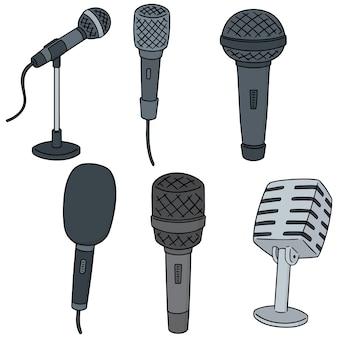 Conjunto de vetores de microfone