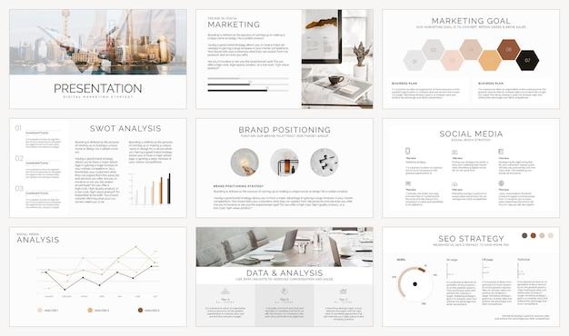 Conjunto de vetores de modelo de apresentação de negócios