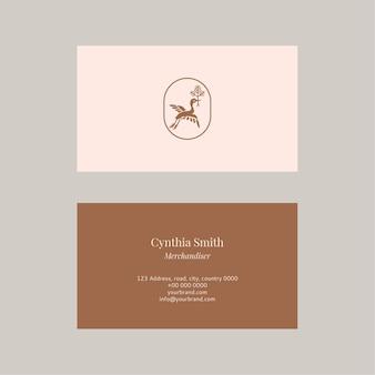 Conjunto de vetores de modelo de cartão de nome de moda