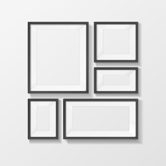 Conjunto de vetores de moldura de imagem