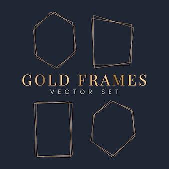 Conjunto de vetores de moldura de ouro