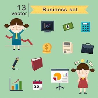 Conjunto de vetores de negócios