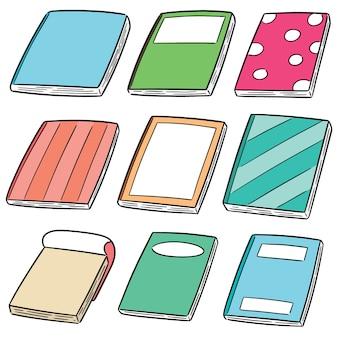 Conjunto de vetores de notebooks