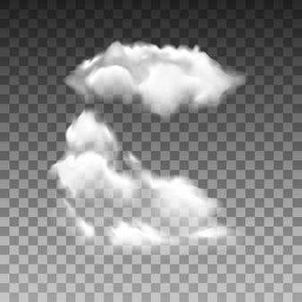 Conjunto de vetores de nuvem isolada realista