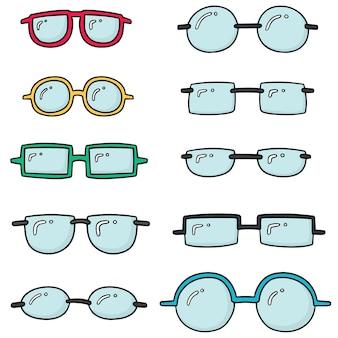 Conjunto de vetores de óculos