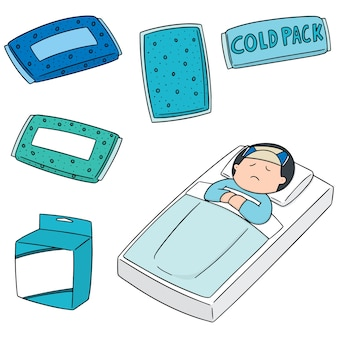 Conjunto de vetores de pack frio