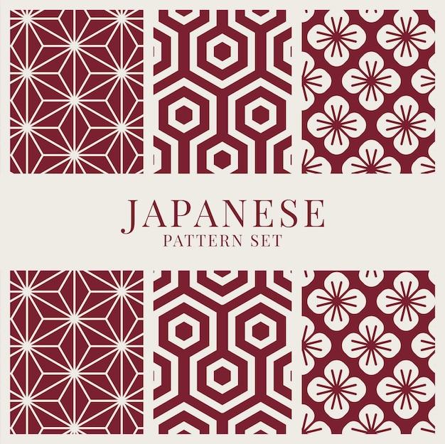 Conjunto de vetores de padrão de inspiração japonesa