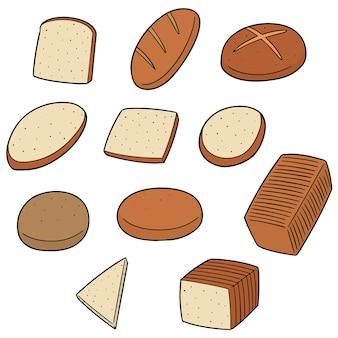 Conjunto de vetores de pão