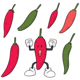 Conjunto de vetores de pimenta