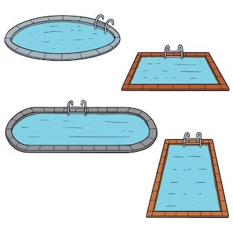 Conjunto de vetores de piscinas
