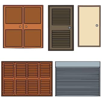 Conjunto de vetores de porta