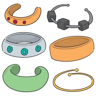 Conjunto de vetores de pulseira