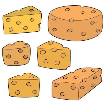 Conjunto de vetores de queijo