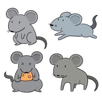 Conjunto de vetores de rato