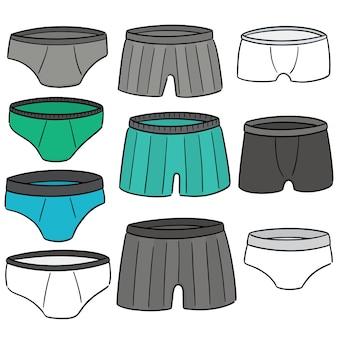 Conjunto de vetores de roupa interior