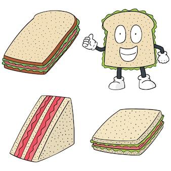 Conjunto de vetores de sanduíches