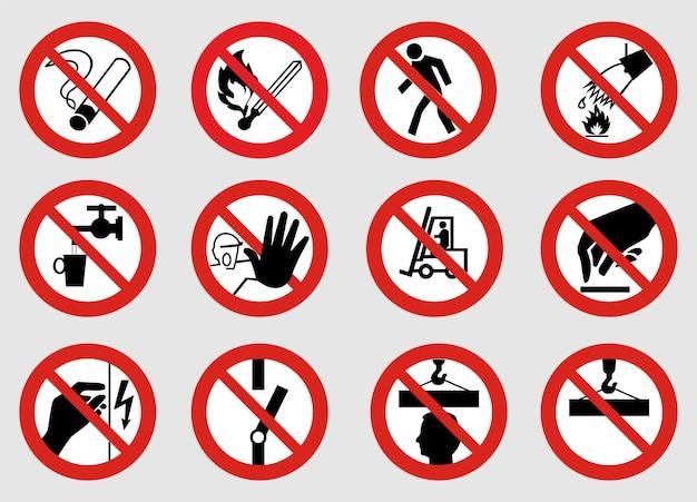 Conjunto de vetores de sinais proibitivos