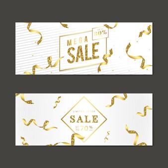 Conjunto de vetores de sinal de venda de ouro