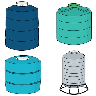 Conjunto de vetores de tanque de armazenamento de água